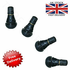 4 x TR412 SNAP IN TUBELESS TYRE VALVES CARS MOTORBIKES QUADS BUGGY BICYCLE BIKE