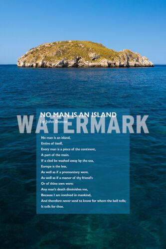 John Donne poema Print-ningún hombre es una isla-Arte Foto Poster Regalo