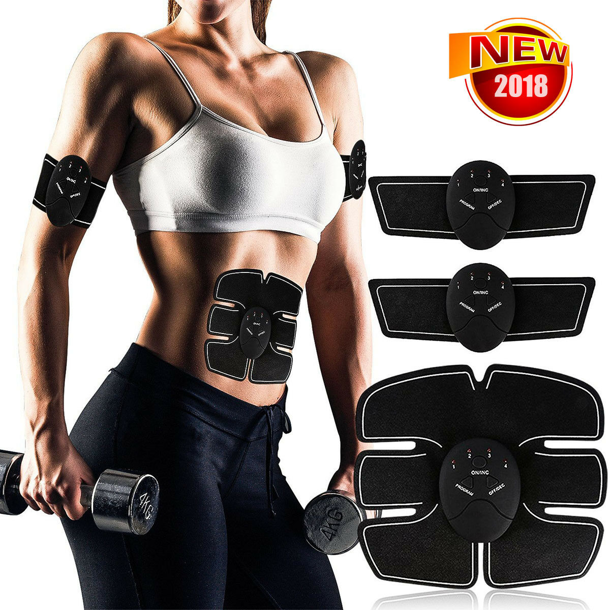 Magic EMS Muscle Training Gear ABS Training Fit Body Home Exercise Shape Fitness