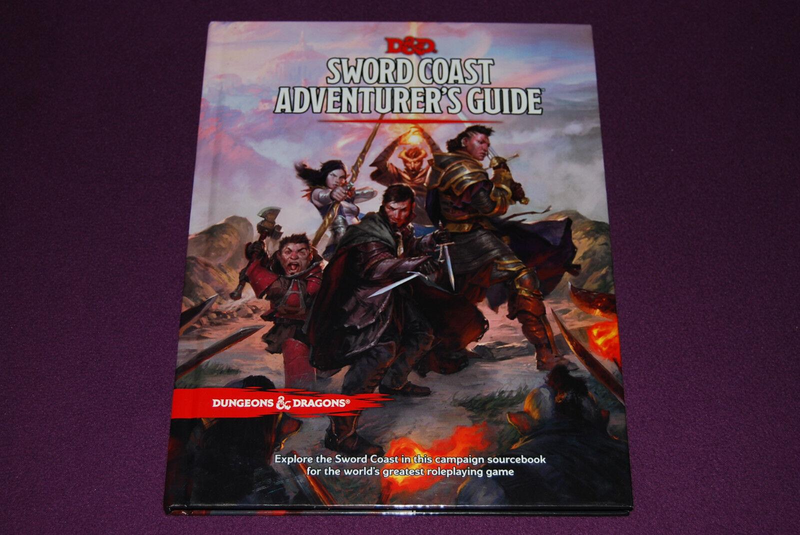 D&D DUNGEONS & DRAGONS 5 RPG JDR Jeu de Role - Sword Coast Adventurer's Guide