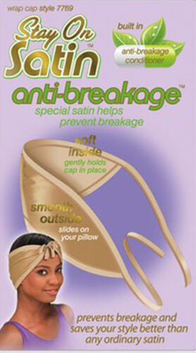 Stay On Satin Anti-Breakage Wrap Cap Special Prevent Breakage In 6 Colors #7769