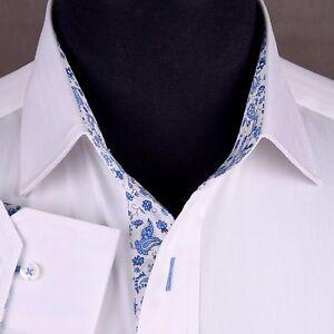 White herringbone formal business dress shirt french for White herringbone dress shirt