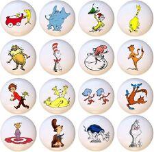 Set of 16 Dr Seuss CERAMIC Drawer Pulls Dresser Drawer Cabinet Knobs
