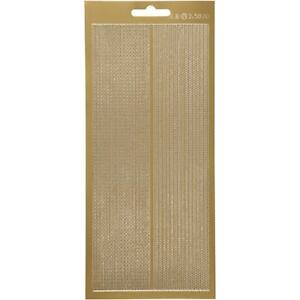 Gold Self Adhesive Chain Borders Peel Off Stickers Sheet ...