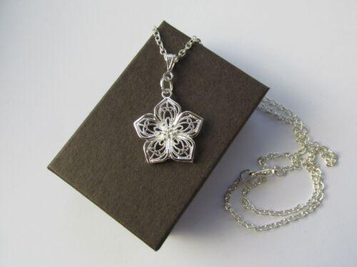 Venta por mayor joyas sólido 925 Plata Esterlina Collar Colgante de piedra lunar Ciervo