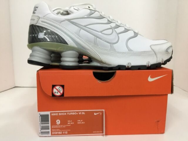finest selection 83422 09ee4 Nike Mens Shox Turbo + VI SL Style  318162 112 Size 9