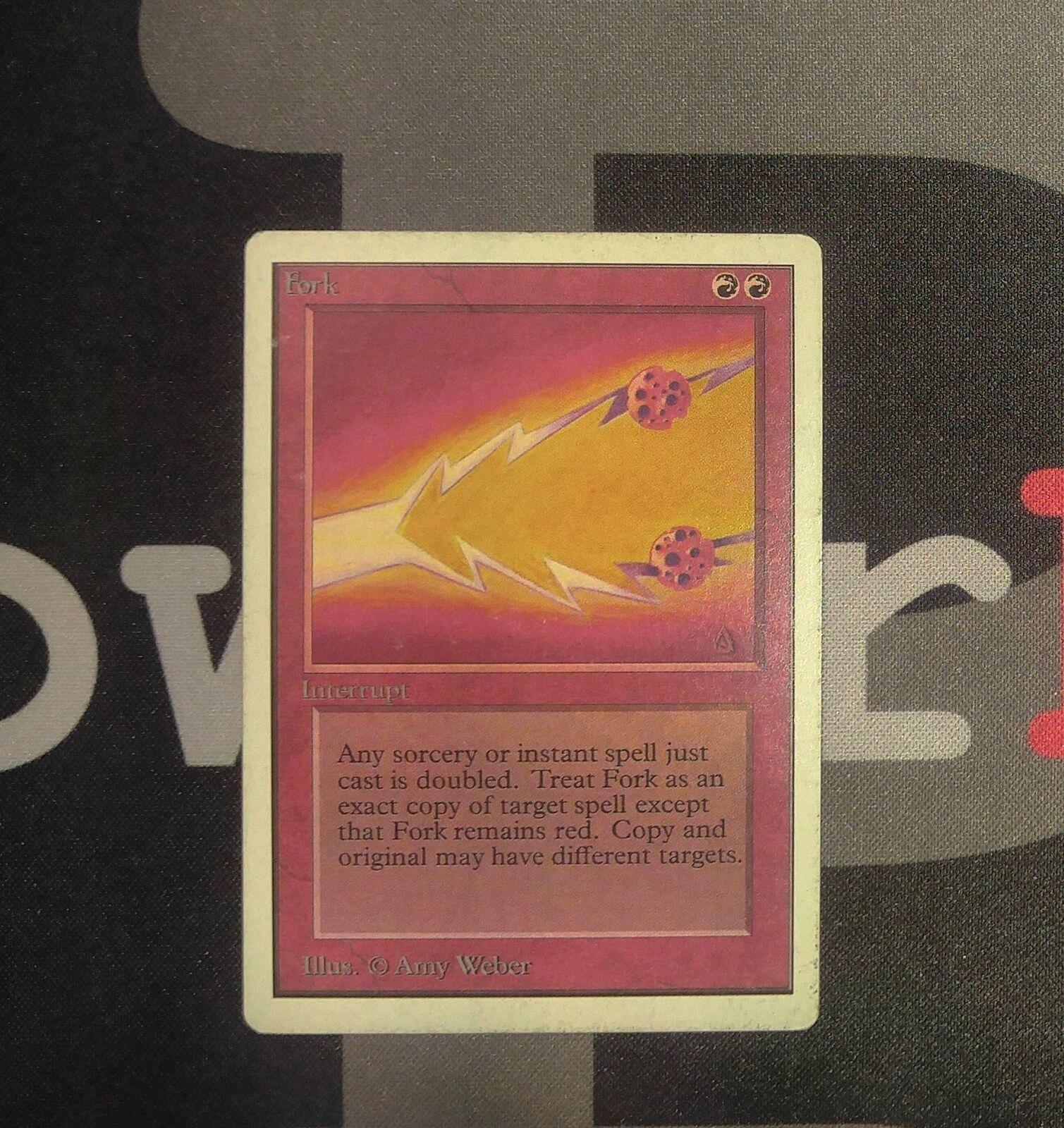 1 - gabel - unbegrenzte mtg magie rote seltene alte schule 93   94