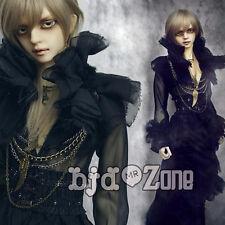 New 1/3 BJD Boy Doll Clothes Black Gothic Long black gauze clothing + beam wais