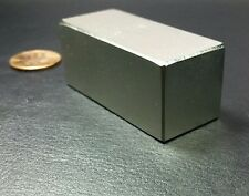 N52 2 Neodymium Block Magnet Super Strong Rare Earth Bar Over 5k Gauss