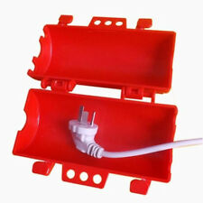 electrical plug lockout device large plug red cover for home workhshop security