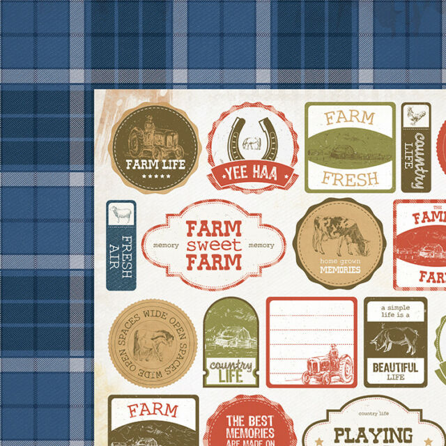 Kaisercraft 12x12 Scrapbooking paper, Old Mac Collection, Flanno