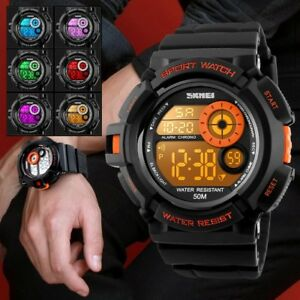 SHOCK-Men-LED-Digital-Sports-Watch-Army-Waterproof-Rubber-Date-Alarm-Wrist-Watch