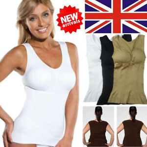 59325b1e6926d UK Women Slimming Tank Top Cami Body Shaper Tummy Control Shapewear ...