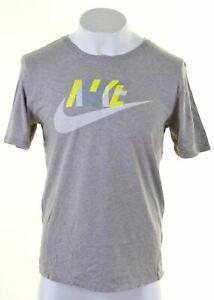 Nike-Hombre-Graphic-T-Shirt-Top-Algodon-Gris-Grande-A201