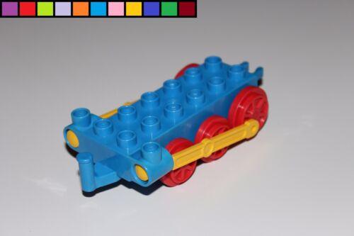 LOCOMOTIVE DE POUSSE Bleu PAVILLON Châssis Base Chemin de fer LEGO DUPLO