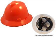 Msa V Gard Full Brim Hard Hat Hi Viz Orange