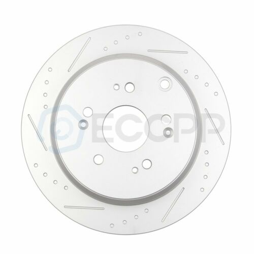 Front and Rear Discs Brake Rotors Ceramic Pads For 2007-2011 Honda CR-V Slotted
