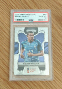 2018-Panini-Prizm-Soccer-World-Cup-80-KYLIAN-MBAPPE-France-RC-Rookie-PSA-10-QTY