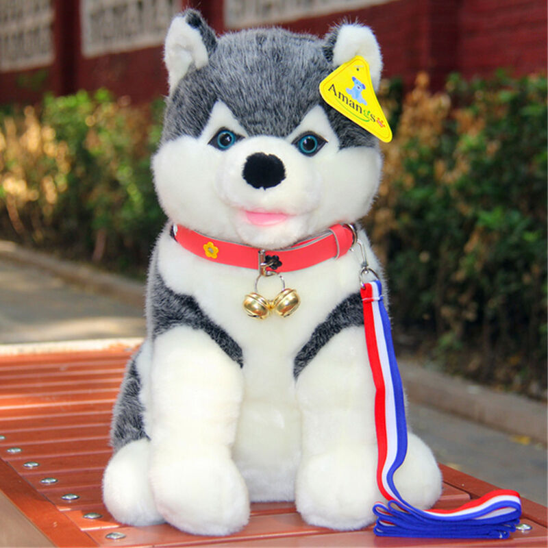 Anime Husky Dog Plush Toy Soft Puppy Simulated Stuffed Animal Doll Kid Gift 50CM