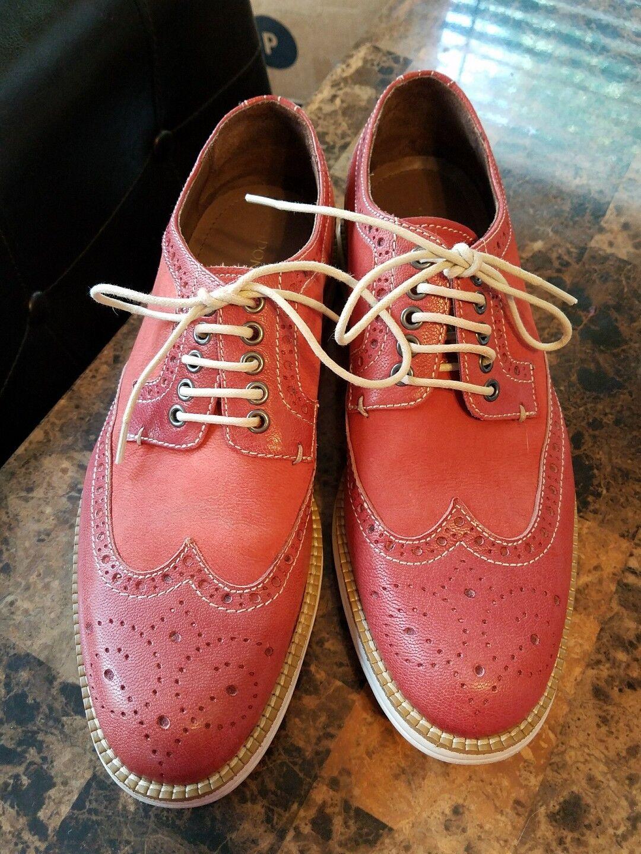 Donald J Pliner Orange Pelle Wing Tip Dress Shoes Size 7M