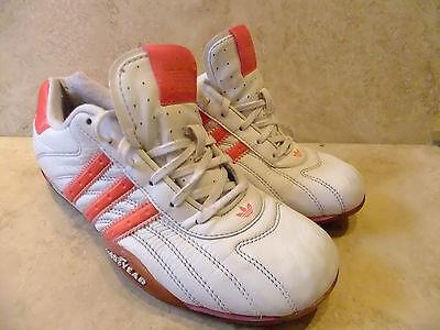Adidas Originals Goodyear Cuero Blanco formadores Casual Zapatos Talla Uk 4 Eur 36.5