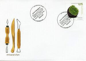 Luxembourg-2017-FDC-ARTISANAT-Artisanat-1-V-couverture-sculpture-art-STAMPS