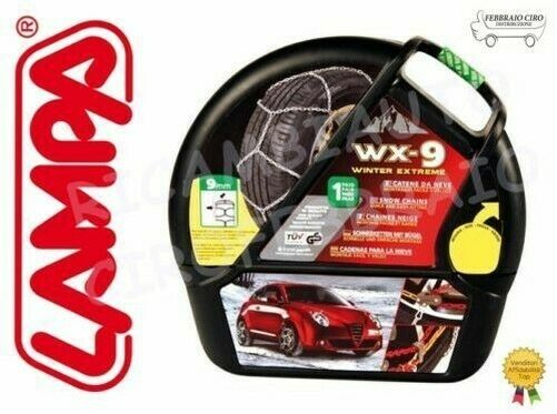 GD02007 Cadenas Nieve 9mm Lampa WX-9 Gr 5 Ibiza (2002) Neumáticos 165/70r14