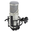 STUDIO CONDENSER MICROPHONE W USB AUDIO INTERFACE & 3.5MM HEADPHONE OUTPUT