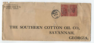 c1914-4-cent-Parcel-Post-pair-on-cover-Augusta-GA-y4572