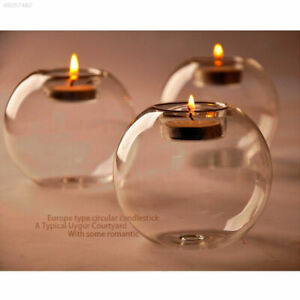 New-Round-Crystal-Glass-Candle-Holder-Bar-Wedding-Party-Dinner-Decor-Candlestick