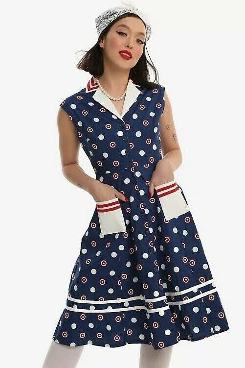 Marvel Hot SOLD OUT Retro 50's Large House Dress  Captain America Peggy Carter