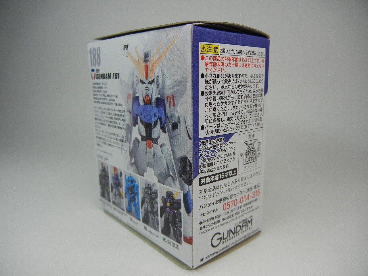 "FW GUNDAM CONVERGE #12 No.188 /"" F91 Gundam F91 /"" Figure BANDAI #12 F//S"