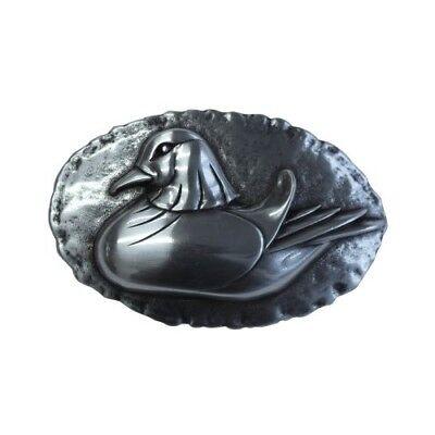 Amichevole Cintura Fibbia The Duck 4,0 Cm Anatra Sale In Argento-mostra Il Titolo Originale Elegante Nello Stile