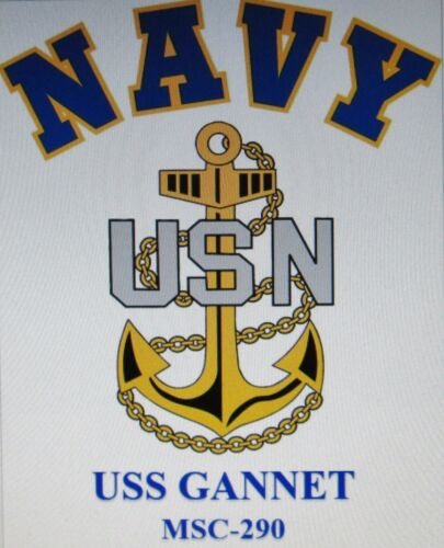 U.S NAVY W// ANCHOR* SHIRT USS TERROR  CM-5* MINELAYER