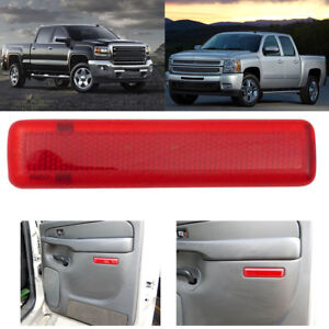 2pcs Rear Door Trim Panel Reflectors for GMC Sierra Yukon Chevy Silverado