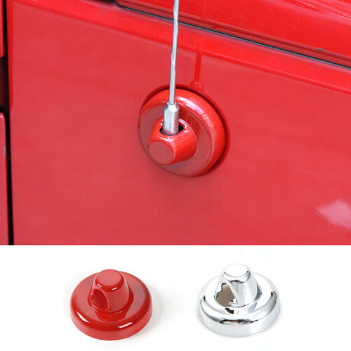 Red Car Chrome Antenna Base Cover Antenna Radio Aerial Cover for Jeep Wrangler