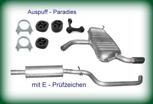 75kW Kit Typ 8PA 5-Tür bis 06//2008 Abgasanlage Auspuff Audi A3 Sportback 1.6