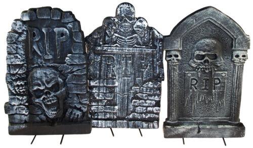 Lot de 3 Halloween 37 cm Weathered Spooky tombes//Tomb Stones