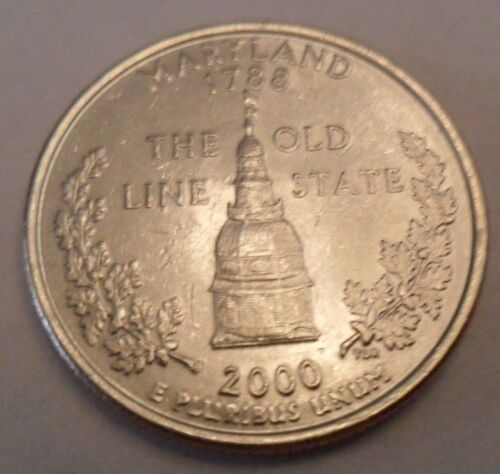 2000 D Maryland State Quarter  **FREE SHIPPING**