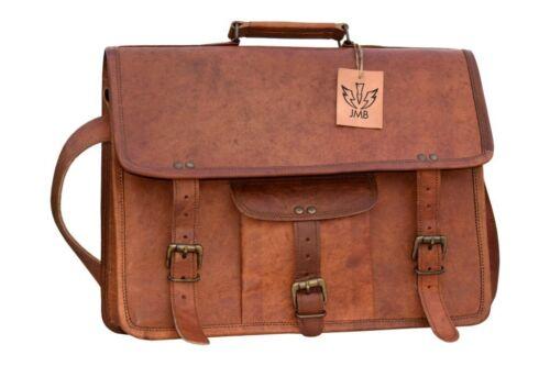 Leather Satchel Messenger Genuine Vintage  Hand Bag Laptop Briefcase Bag jasol