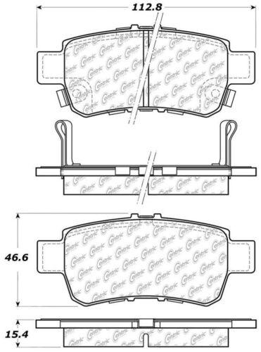Disc Brake Pad Set-C-TEK Metallic Brake Pads Rear fits 05-10 Honda Odyssey