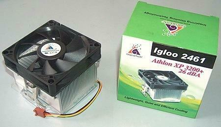 GlacialTech Igloo 2461 Socket 370 and Socket A CPU Cooling Fan - Intel and AMD