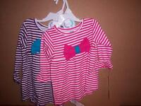 Gerber Graduates Girl's Shirt, Pink Or Purple, Bow