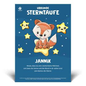 Geschenk mit Namen für Kinder | Stern-Urkunde Kinderzimmer Deko, Mädchen & Junge
