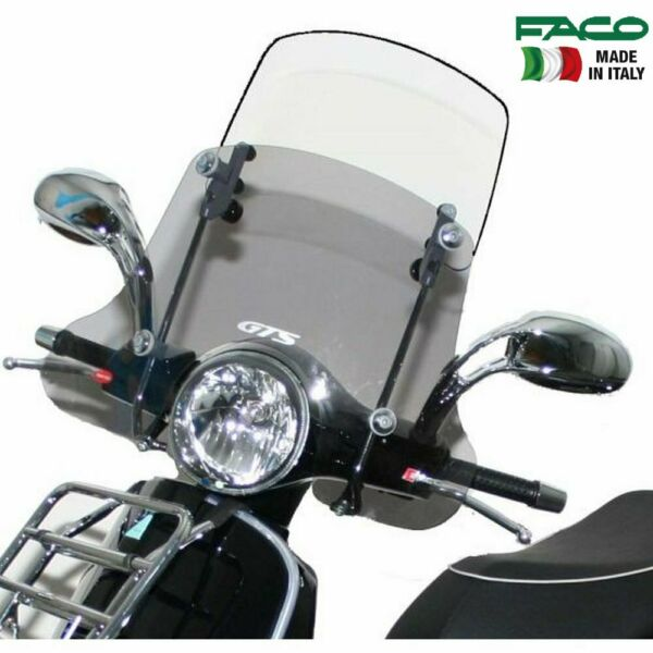 Doeltreffend Faco 22791 Parabrezza Twin Screen Con Aste Vespa Gts Touring 300 2006 2016 Modern En Elegant In Mode