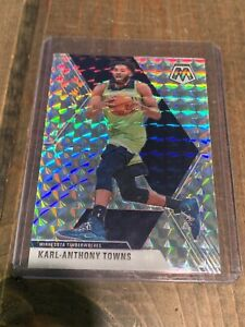 KARL-ANTHONY-TOWNS-2019-20-Panini-Mosaic-SILVER-Prizm-Holo-SP-83-Timberwolves