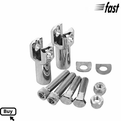 Streamliner Rear Foot Pegs Footrest Mounts Fit For Harley Softail Fatboy 00-06