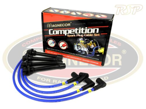 "Magnecor 8 mm bleu Allumage HT Lead Set Volvo 740 760 940 960 2.3i Turbo 22/"" C.L"