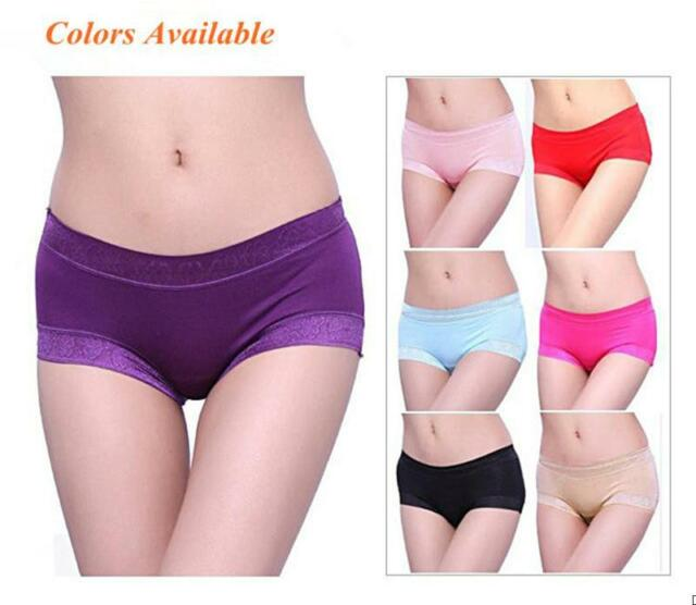 12pcs Lot Sexy Bamboo Fiber Natural underwear lace triangle waist brief Soft New