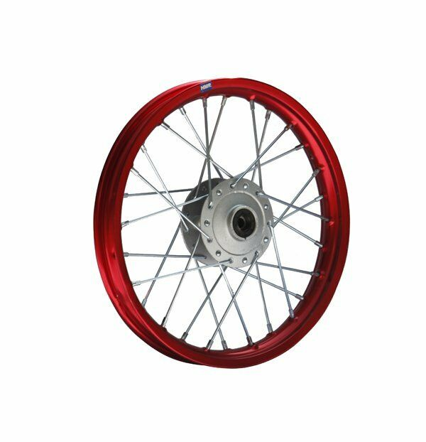 Hmparts Pit Bike Dirt Bike Cross Alloy Wheel Rim Anodised 14   Front Red